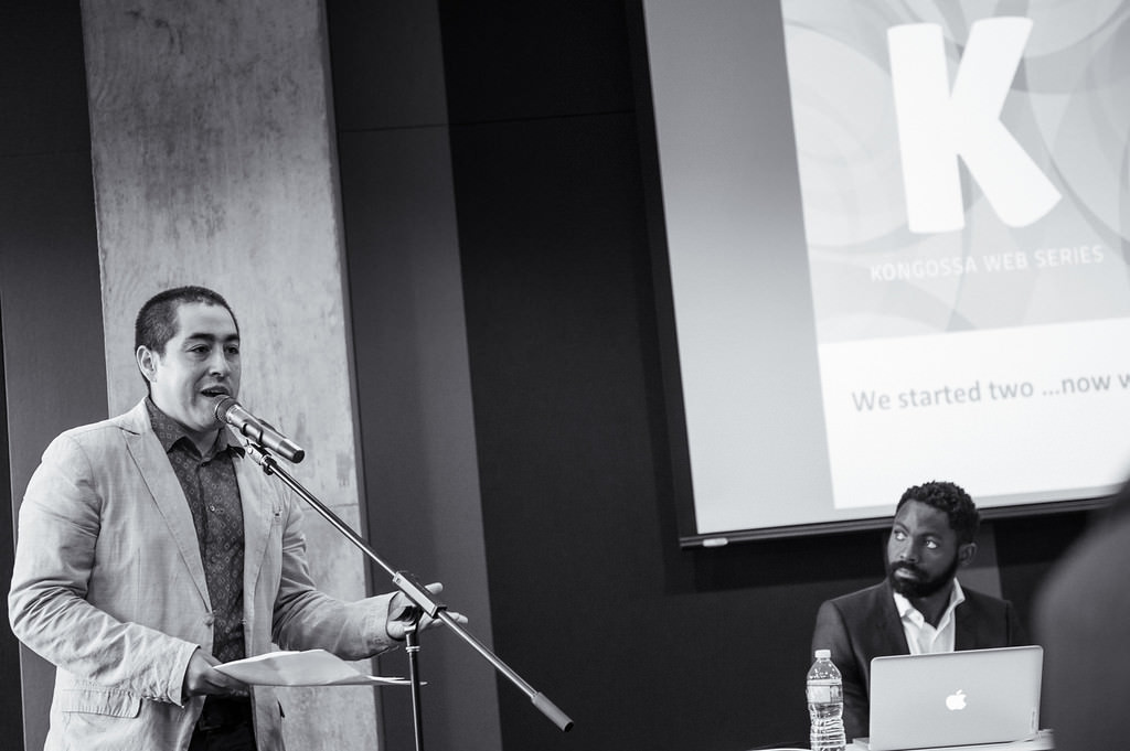 Event photography of speaker at KWS conference