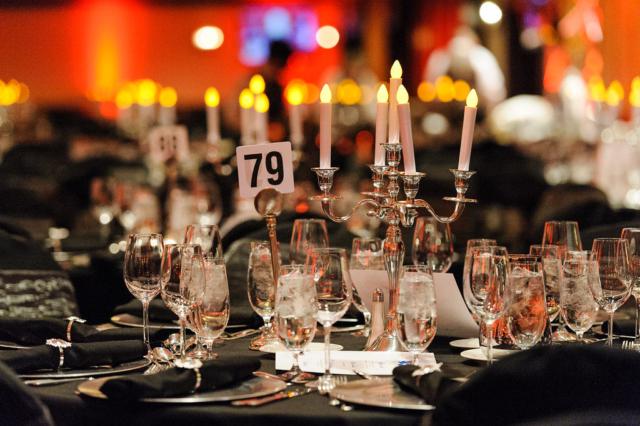 Decor photos at holiday banquet